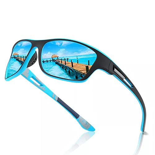 HGFJG Gafas De Sol Polarizadas para Hombres Y Mujeres,Gafas De SolCuadradas De Plástico para Conducir, Moda Masculina, Sombras Negras Uv400