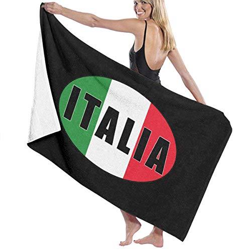 asdew987 Toallas de playa Italia Italia Bandera Italia Toallas de baño para adolescentes niñas adultos toalla de viaje toalla de 76 x 127 cm