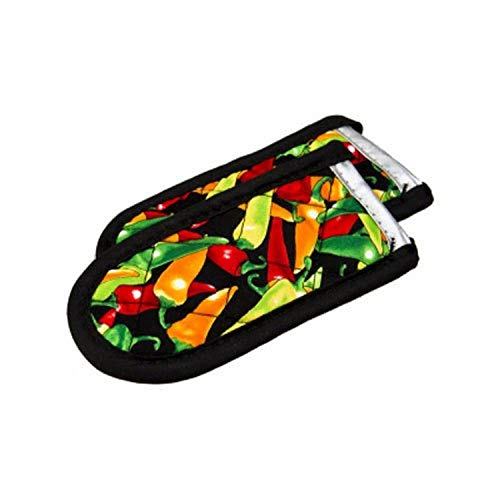 Lodge Hot Handle Holders/Mitts, Multi-color Peppers, 2-Pack