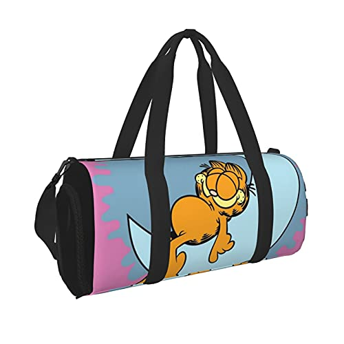 Garfield - Bolsa de lona duradera para gimnasio, para hombre, mujer, ligera, con bolsillo interior, para viajes y deportes
