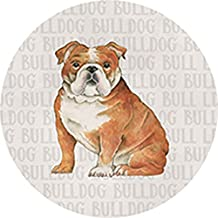 Set of 4 Fun Dog Square Stone Coaster Set by Carson Home Accents