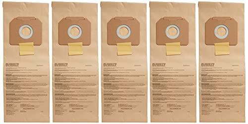 Dewalt DWV9401 Paper Bag for DWV012 Dust Extractor, 5-Pack, Brown