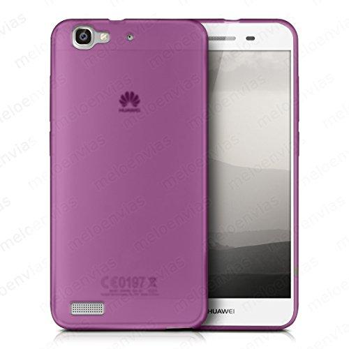 Meloenvias Funda Carcasa para Huawei P8 Lite Smart Gel TPU Liso Mate Color Rosa