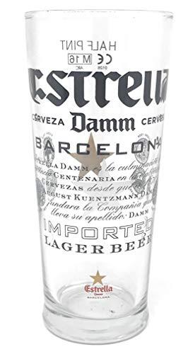 Estrella Damm Media Pinta (10onza/248mililitros) One Cristal