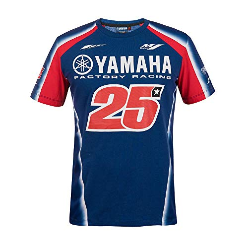 VR46 Yamaha Vinales T-Shirt Homme, Royal Blue, XL