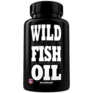 Wild Foods Fish Oil Supplement - Triple-Strength Omega 3 with Triglyceride DPA DHA & EPA - Nature's Heart, Brain & Joint Support - Burpless, Non-GMO, Gluten Free & Purity Tested - 60 Softgels