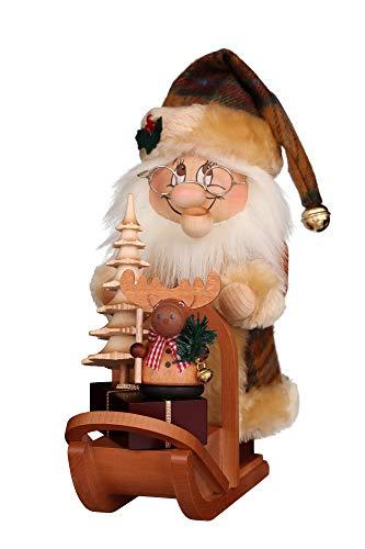 Ulbricht Wichtel Weihnachtsmann mit Schlitten 28 cm Neuheit 2019 Räuchermann