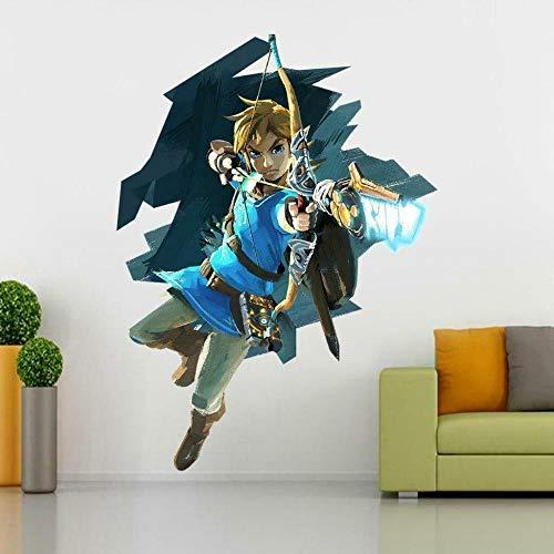 QAW Wandtattoo Zelda Wandaufkleber Aufkleber Home Decor Art Wandbild Riesig