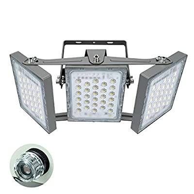 STASUN 13500LM Dusk to Dawn Security Lights, 150W LED Flood Light Outdoor with Photocell, 5000K Daylight, IP65 Waterproof Wide Lighting Angle Security Area Lights for Yard Street Parking Lot
