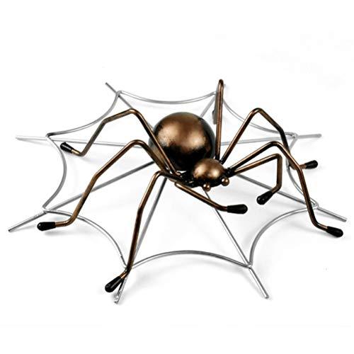 WUHUAROU Único Modelo de araña de Metal Soporte de Vino Figura de Hierro Decorativa Tela de araña Estante de Botellas Adorno de Bar Utensilios de artesanía Novedad