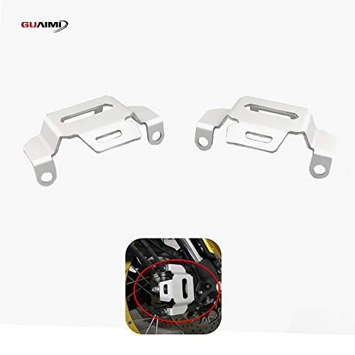 GUAIMI Bremszangenabdeckung Bremssattel Abdeckung vorne Kompatibel mit Su-zu-ki DL1000 V-Strom 1000 / XT 2015-2019, Silber