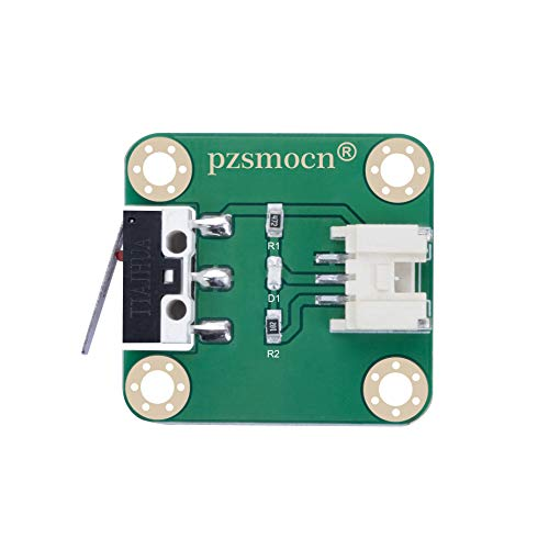 pzsmocn Collision Sensor/Micro Snap Switch/Micro Limit Switch Module Compatible with Raspberry Pi and Arduino Board. for Smart Homes, Offices, 3D Printer and Teaching Interact with Robots.