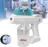 Pistola de pulverización del desinfectante nano portátil, máquina de desinfección del rociador de la pistola ULV eléctrica de Nano Steam, adecuado para la humidificación de la desinfección y la escuel