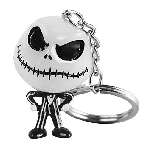 Qiulip Kreativer Halloween-Schlüsselanhänger mit Totenkopf-Motiv, cooler Schlüsselanhänger, Rucksack, Auto, Geister-Anhänger
