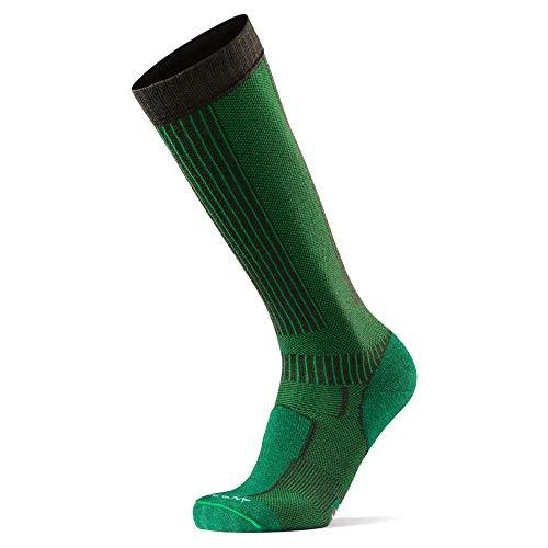 DANISH ENDURANCE Lange Merino Outdoor-Socken mit Zecken- und Mückenschutz 1 Paar (Dunkelgrün, EU 35-38)