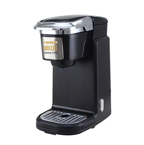 Dolché K-Cups ONE - Macchina per cialde americane - Keurig 2.0 e capsule compatibili - Black & UK Plug