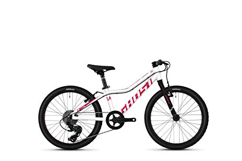 Ghost Lanao R1.0 AL W 20R Mädchen Mountain Bike 2020 (27cm, Star White/Ruby Pink)