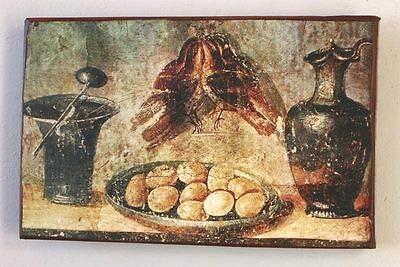 Kunstdruck Stillleben aus dem Haus der Julia Felix Krug Becher Fresko Ziegel Pompeji 11