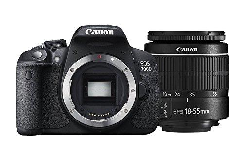Canon EOS 700D EF-S 18-55 DC III - Cámara réflex digital de 18.0 MP (pantalla táctil de 3.0