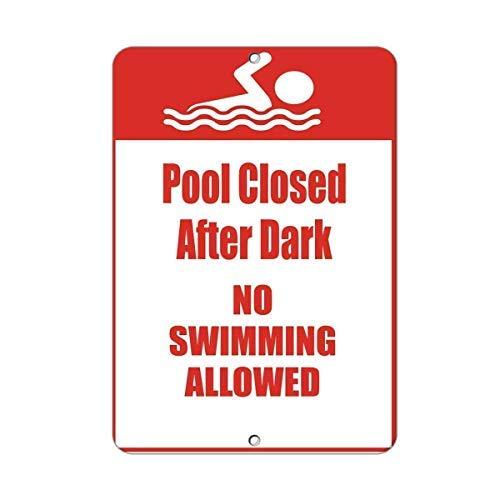 Schild Aufschrift Pool Closed