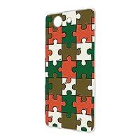 FFANY Xperia Z3 Compact (SO-02G) 用 スマホケース ハードケース パズル柄・ベーシック おもしろ ゲーム パロディ SONY ソニー エクスペリア ゼットスリー コンパクト docomo スマホカバー 携帯ケース 携帯カバー puzzle_aao_h190732