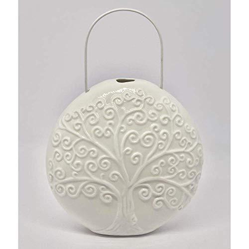 Publicante SRL humidificador de Porcelana con árbol de la Vida 13 cm Bombonera