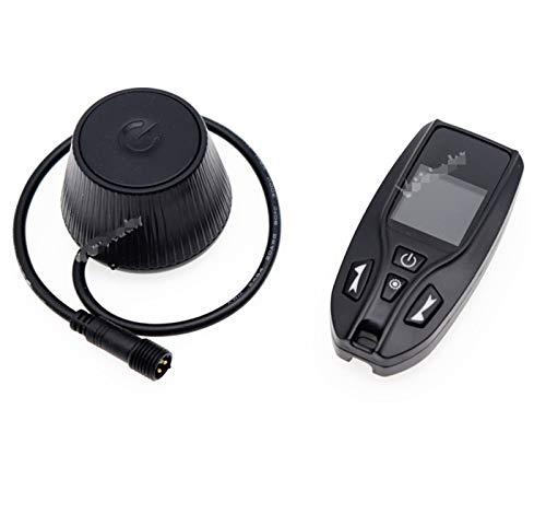 Lyjun Calentador de Aire del automóvil de 12 V4V 24V Control Remoto de Dos vías Interruptor de Monitor LCD Controlador de Calentador de estacionamiento Termostato para Calentador Diesel + Cable