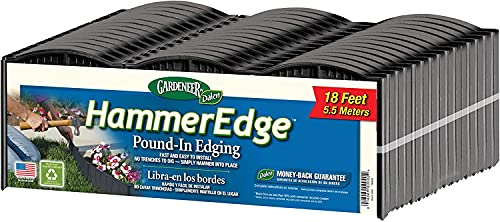 Gardeneer by Dalen HammerEdge Pound in Edging - 16 Durable Interlocking Pieces -18 feet of Coverage - Made in USA - Easy to Install