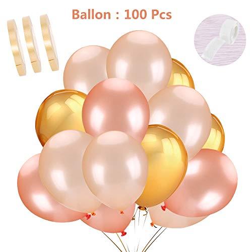 100 Stücke Luftballon Pastellfarben Mix Deko Set Natur-Latex Ballon 12