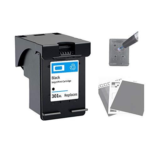 Cartuchos de Impresora de InyeccióN de Tinta,Cartuchos Tricolor Negros para HP301XL,con Recargable,Fuerte Compatibilidad y Practicabilidad Fuerte,Negro