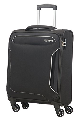 American Tourister Holiday Heat - Spinner Equipaje de Mano, 55 cm, 38 l, Negro (Black)