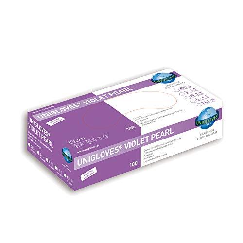Unigloves Violet Pearl Nitrilhandschuhe Nitril Handschuhe Lila OHNE LATEX Größe Large