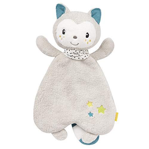 FEHN 057126 Schmusetuch Katze / Spielkamerad, Einschlafhilfe & Stofftier-Schnuffeltuch mit Katzen-Köpfchen zum Greifen, Fühlen und Liebhaben für Babys und Kleinkinder ab 0+ Monaten