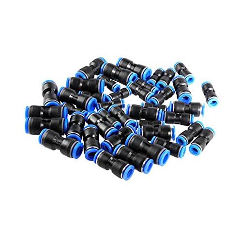JIAN 30 unids accesorios neumáticos 10mm 8mm 6mm empuje recto conector plástico tráquea conjunto de conectores PU y plástico aire manguera de agua tubo gas exquisito