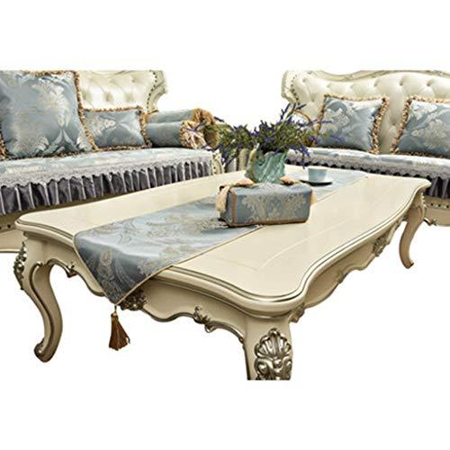 Tafelloper LuxuryHigh Precision Jacquard tafelkleed Tapestry Dekking van de Doek for Wedding Party Kerst tafeldecoraties Blue Tafelkleed-4.21 (Size : 34 * 180cm)