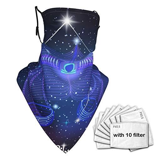 SD3DPrint Sternbild Sternzeichen Waage Unisex Sturmhaube Gesichtsbedeckung Schal Halstasche Staubmaske mit Fiters