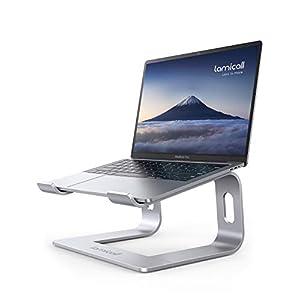 Laptop Stand, Lamicall Laptop Riser Holder : Ergonomic Detachable Aluminum Computer Notebook Stand Elevator for Desk…