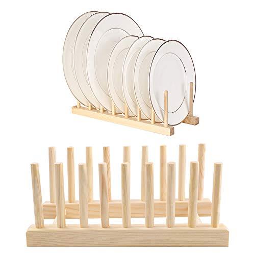 2 scurreplatos madera Escurridor para Platos Es ideal para bandejero y porta platos decorativo