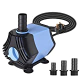 BAITAI 400GPH Submersible Water Pump, 1500L/H 30W Water Feature Pump 7ft Lift Height with 4.9ft Power Cord 3...