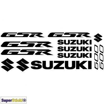 SUPERSTICKI Suzuki GSR 600 Aufkleber A1 Sponsorset 4713 ca. 30x20cm Aufkleber Bike Auto Racing Tuning aus Hochleistungsfolie Aufkleber Autoaufkleber Tuningaufkleber Hochleistungsfolie für