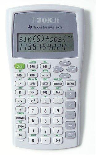 Texas TI30X-IIB Schulrechner (Batteriebetrieb 118,7, B 82 x L 155 x H 19) weiß