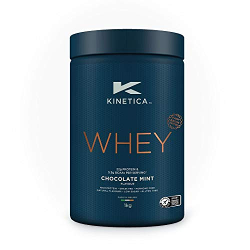 Kinetica Whey Protein Powder, 33 Servings, Chocolate Mint, 1kg