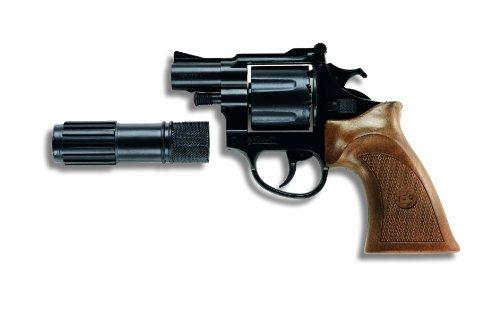 Edison Pistola Polizia Phantom con Silenziatore 12 Colpi 125Db 18122