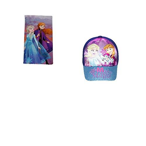 Kit Frozen gorro y toalla de playa azul claro Talla única