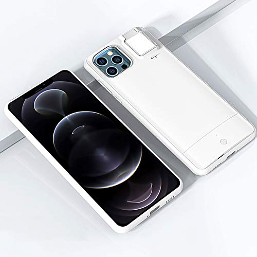 Selfie Fill Light Light Funda LED LED Enciende la Funda de Anillo de Flash, para iPhone 12 12 Pro Pro MAX 11 11 Pro X XS XR XS Funda de batería MAX Cubierta DE TELÉFONO Smart
