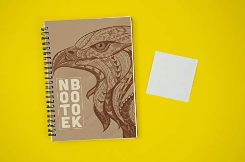 (K.980)Notebook for note: Brown cover with eagle image. Paperback |size 6x9| |200 pages| (English Edition)