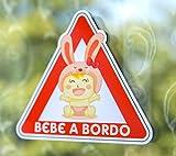 Pegatina Vinilo Bebe a Bordo, Baby on Board (15cm x 13cm)