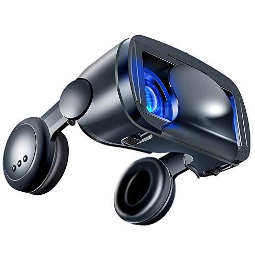 LHNEREGLHNEREG Caja De Gafas De Realidad Virtual 3D VR con Lente Ajustable, Gafas De Realidad Virtual, para Videojuegos De Películas 3D VR, Teléfonos Inteligentes Compatibles De 5 '' - 7 ''