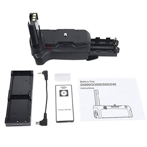 DSTE - Batería para empuñadura de cámaras Nikon D40, D40X, D60, D3000...