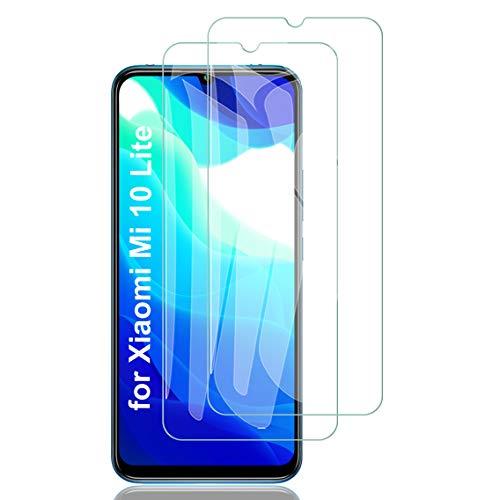 ELYCO Vetro Temperato Pellicola Protettiva per Xiaomi Mi 10 Lite 5G, [2 Pezzi] [Anti-Graffo/Olio/Impronta] 9H Durezza Niente Bolle Vetro Temperato Screen Protector per Xiaomi Mi 10 Lite 5G